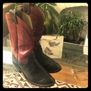 Real Leather men's cowboy boot size 9
